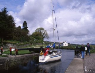 The Crinan Canal at Ardrishaig
